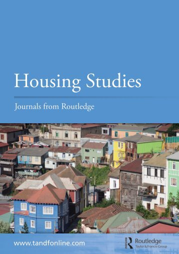 Journals from Routledge Housing Studies - Taylor & Francis