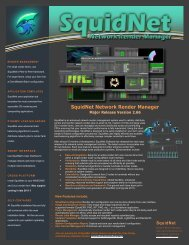SquidNet Network Render Manager