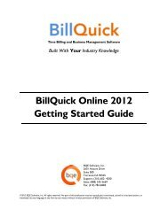 BillQuick Online Getting Started Guide