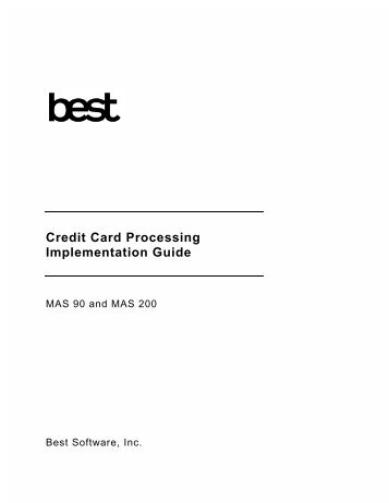 Implementing Credit Card Processing