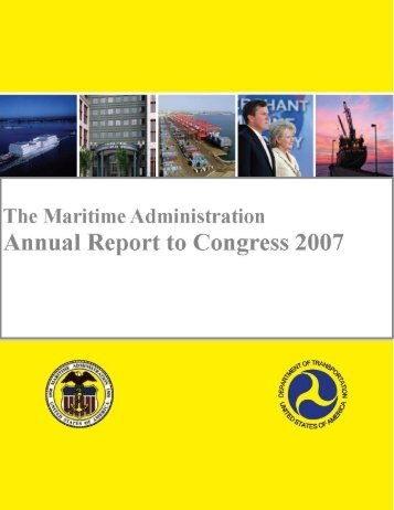 Annual Report To Congress - Maritime Administration - U.S. ...