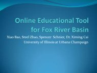 An Online Communication Tool for Watershed Management ...