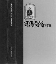 civil war manuscripts - American Memory from the Library of Congress