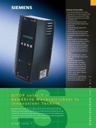 SITOP solar T - Solwex Wechselrichter