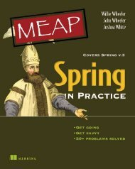 Spring in Practice MEAP Chapter 1 - Manning Publications