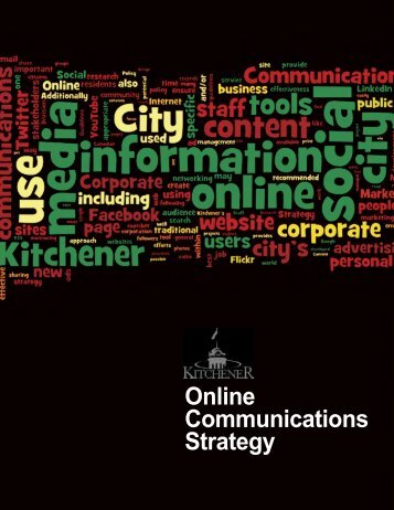 Online Communications Strategy - City of Kitchener