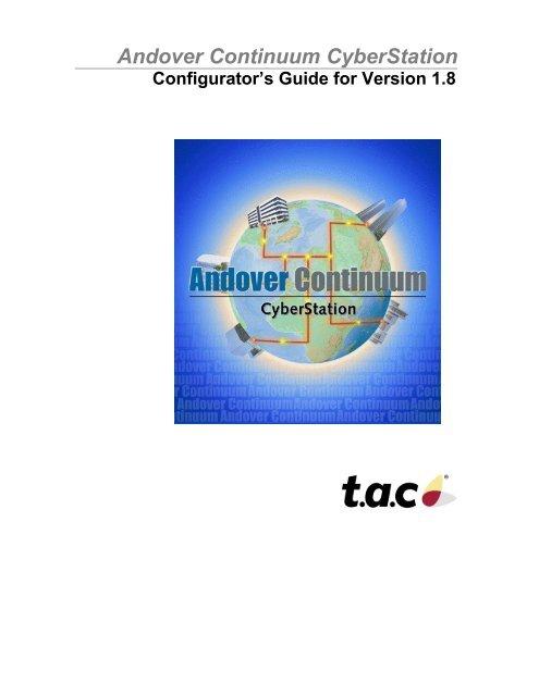 Andover Continuum Configurator's Guide Version 1 8 - RSAXVC