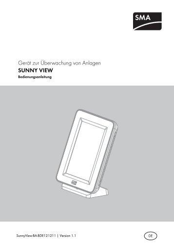 SUNNY VIEW - SMA Solar Technology AG