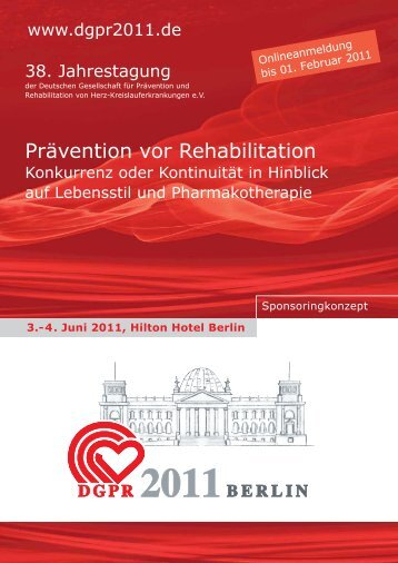 Prävention vor Rehabilitation