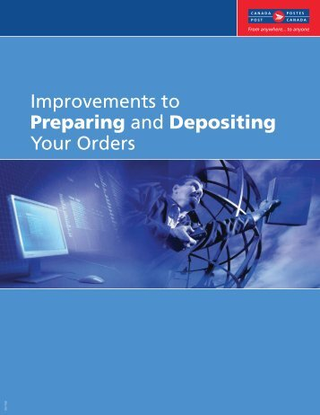 Improvements to Preparing and Depositing Your Orders - Canada Post