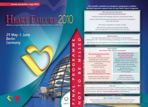 monday posters sessions - European Society of Cardiology