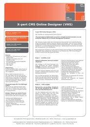 Xpert CMS Online Designer - Volkshochschule Mühldorf a. Inn