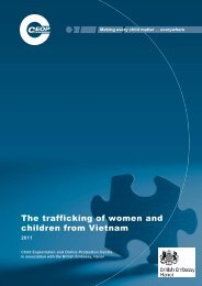 The trafficking of women and children from Vietnam - CEOP