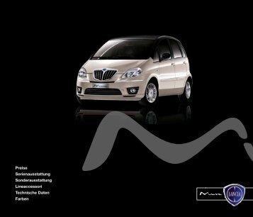 Preise, Ausstattungen und Technische Daten - Lancia