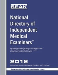 SEAK National Directory Of Independent Medical Examiners