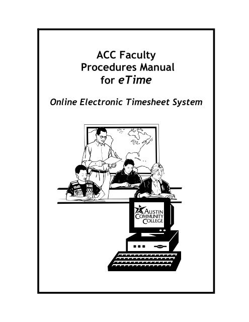 ONLINE ELECTRONIC TIMESHEETS - Austin Community College