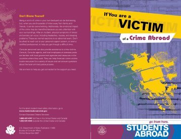 VICTIM - Students Abroad - US Department of State