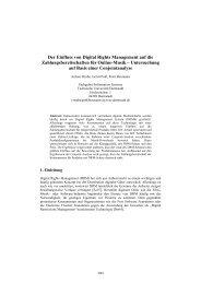 Der Einfluss von Digital Rights Management auf die ... - TUM