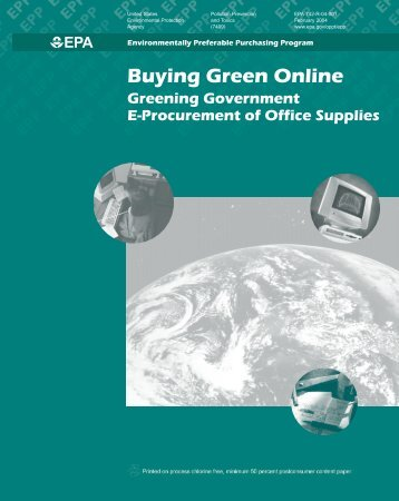 Buying Green Online: Greening Government E-Procurement of ...