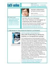 EnEV-Newsletter: EnEV 2012 kommt! - Service - EnEV-online
