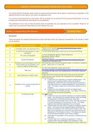 document checklist for oci card