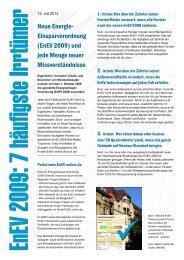 EnEV 2009 Sieben häufige Irrtümer - Service - EnEV-online