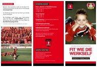 Flyer Fußballschule - Bayer 04 Leverkusen