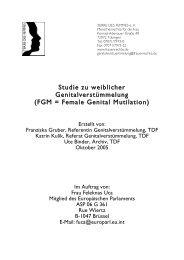 Studie zu weiblicher Genitalverstümmelung (FGM = Female Genital ...