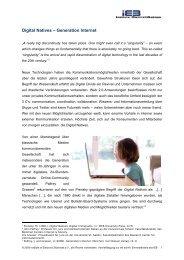 Digital Natives – Generation Internet - IEB