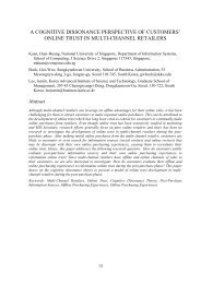 A Cognitive Dissonance Perspective of Customers' Online Trust in ...