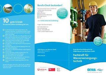 Fachkraft Wasserversorgungstechnik - OEWA Wasser & Abwasser ...