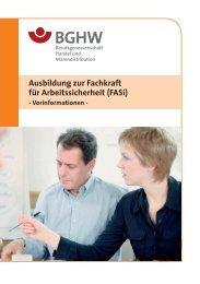 Ausbildung zur Fachkraft für Arbeitssicherheit (FASi)