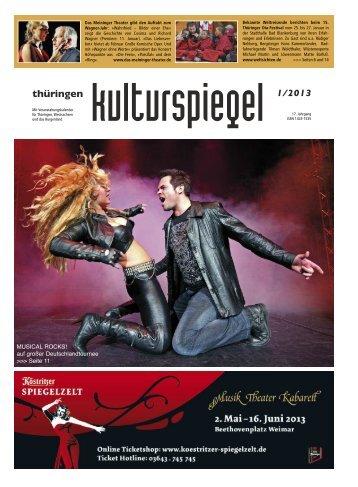 Thüringen Kulturspiegel Veranstaltungskalender Showbühne ...