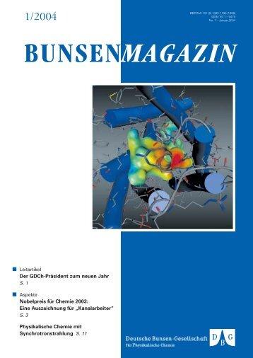 Magazin 01/2004 - Deutsche Bunsengesellschaft für Physikalische ...