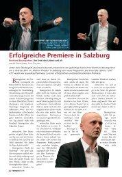 Erfolgreiche Premiere in Salzburg - Bernhard Baumgartner
