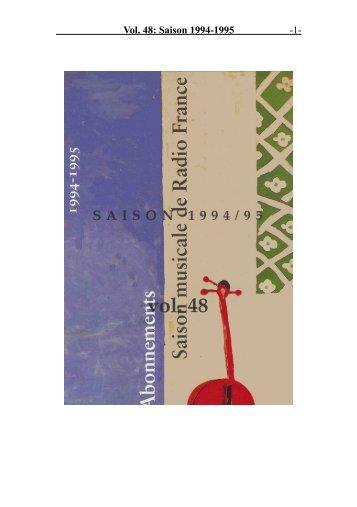 Vol. 48: Saison 1994-1995 - 1 -