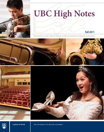 UBC High Notes - Music, School of - University of British Columbia