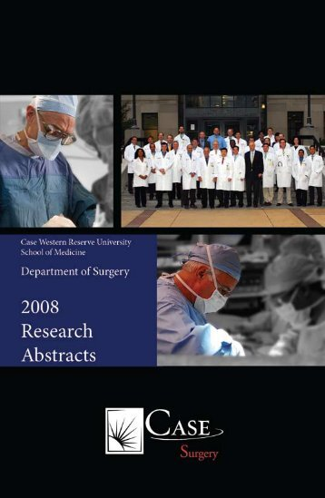 2008-2009 Research Abstracts - Case Surgery