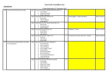 Eisteddfod Entries 2.. - Townsville Grammar School