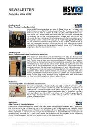 NEWSLETTER Ausgabe März 2012 - HSV