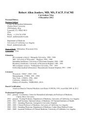CV of Robert Allen Jenders, MD, MS, FACP, FACMI - Home Page of ...