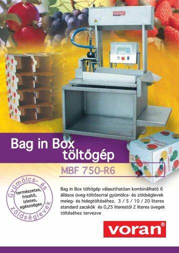 Bag in Box töltőgép - voran Maschinen GmbH