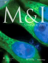 M&I Summer 2011 - Department of Microbiology & Immunology ...