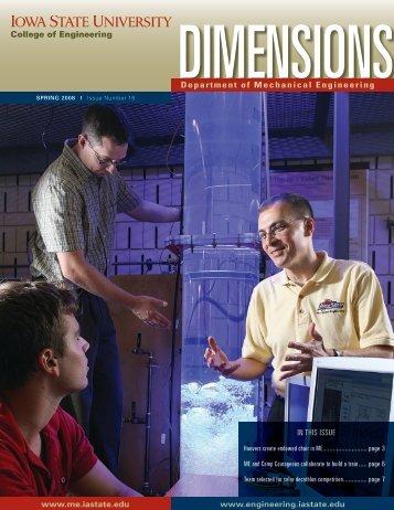 Spring 2008 - Mechanical Engineering - Iowa State University