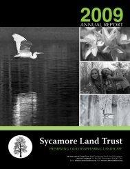 SLT-2009-Annual-Repo.. - Sycamore Land Trust