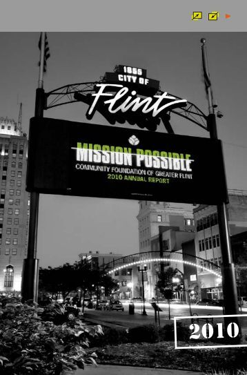 Community Foundation of Greater Flint 2010 Annual Report