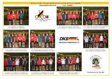 D eutsche J ugendmeisterschaften 2 0 0 8 Mannschaftswettbewerb ...