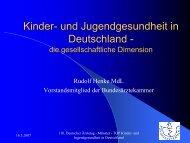 Rudolf Henke, MdL: Kinder- und Jugendgesunheit in Deutschland ...