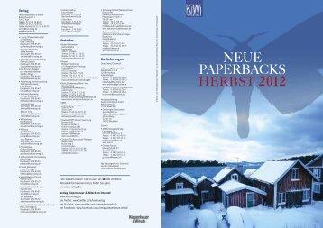 Kiepenheuer & Witsch Vorschau KiWi - Alexandra Wübbelsmann