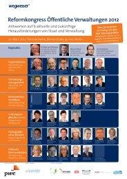 Reformkongress Öffentliche Verwaltungen 2012 - ÖPP Deutschland ...